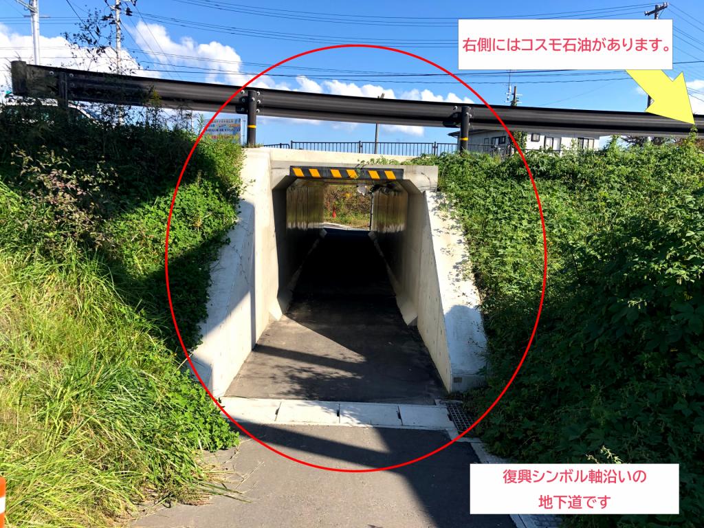 シェアサイクル_地下道02